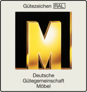 """Gütesigel das Goldene M verliehen von der """"Deutsche Gütegemeinschaft Möbel"""""""