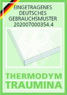Traumina Themodym - Eingetragenes deutsches Gebrauchsmuster - Logo